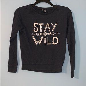 """Divided """"Stay Wild"""" sweatshirt XS juniors"""